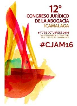 Cartel 12 Congreso Abogacía ICA Málaga